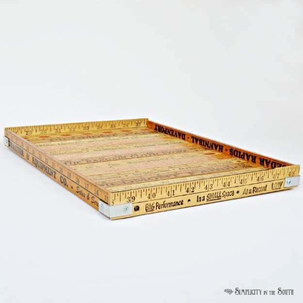 tray made out of yardsticks by Simplicity in the South