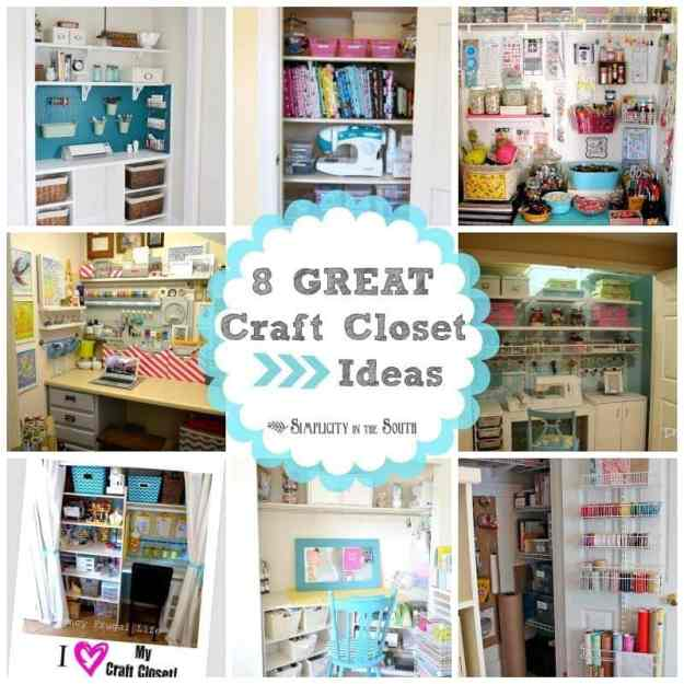 8 Great Craft Closet Ideas