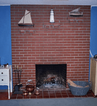 Painting an Old Brick Fireplace - Simplified Bee