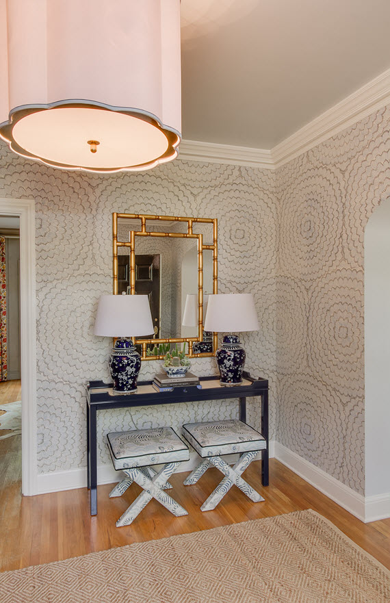 Girl Scout Wallpaper Chinoiserie Chic Foyer Design By Simplifiedbee