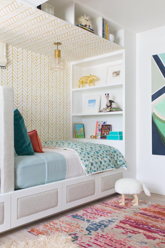 Cute Aqua Green Wallpaper San Francisco Decorator Showcase Shared Girl And Boy