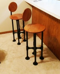 How to Build a Barstool with Pipe (DIY Step