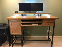 DIY Pipe Standing Desk with Drawer Storage | Simplified ...