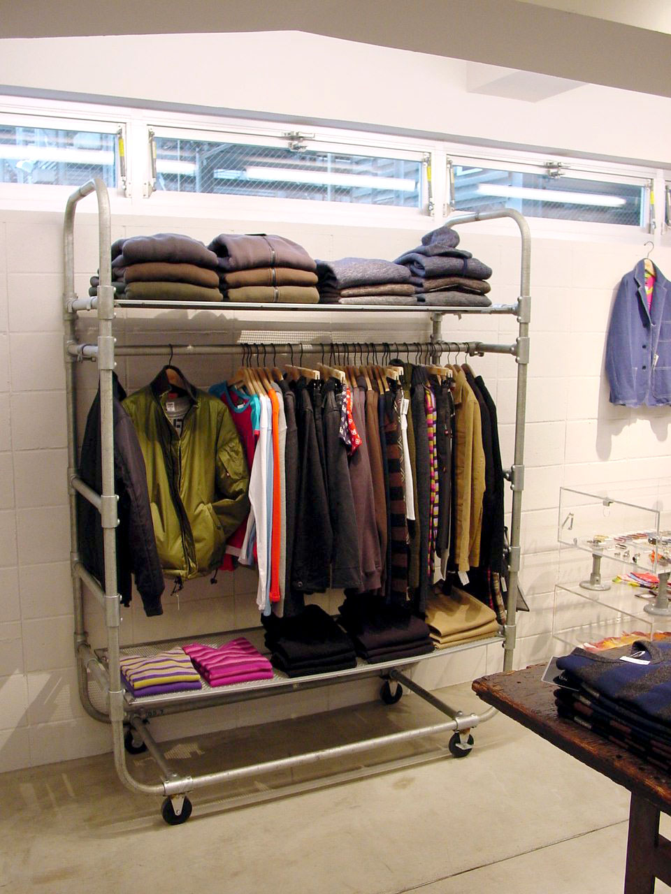 Used Clothing Rack Cool Clothing Store Furniture Used