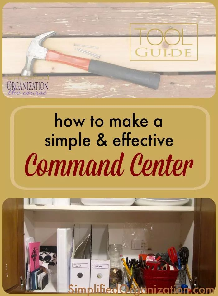 How to make a command center simplified organization