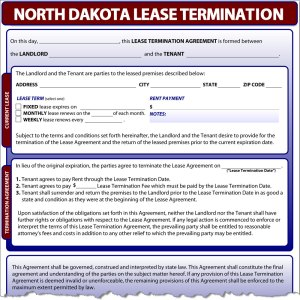 North Dakota Lease Termination
