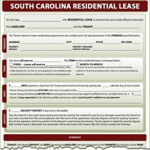 South Carolina Residential Lease