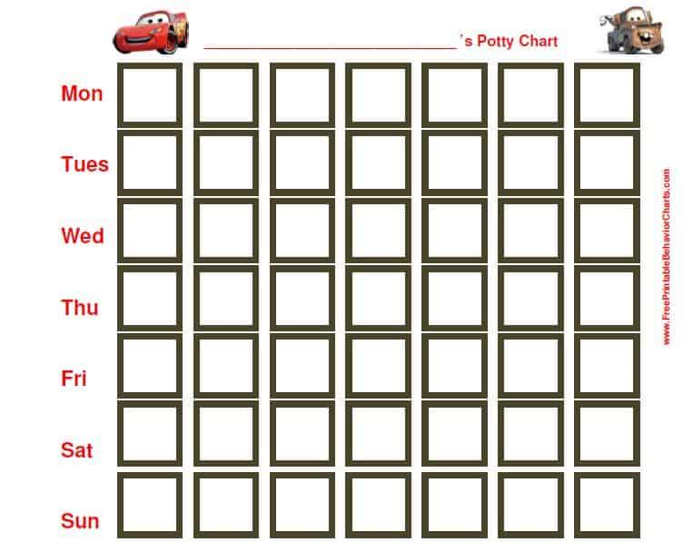 FREE Character Potty Training Charts! Simplistically Living - potty training chart