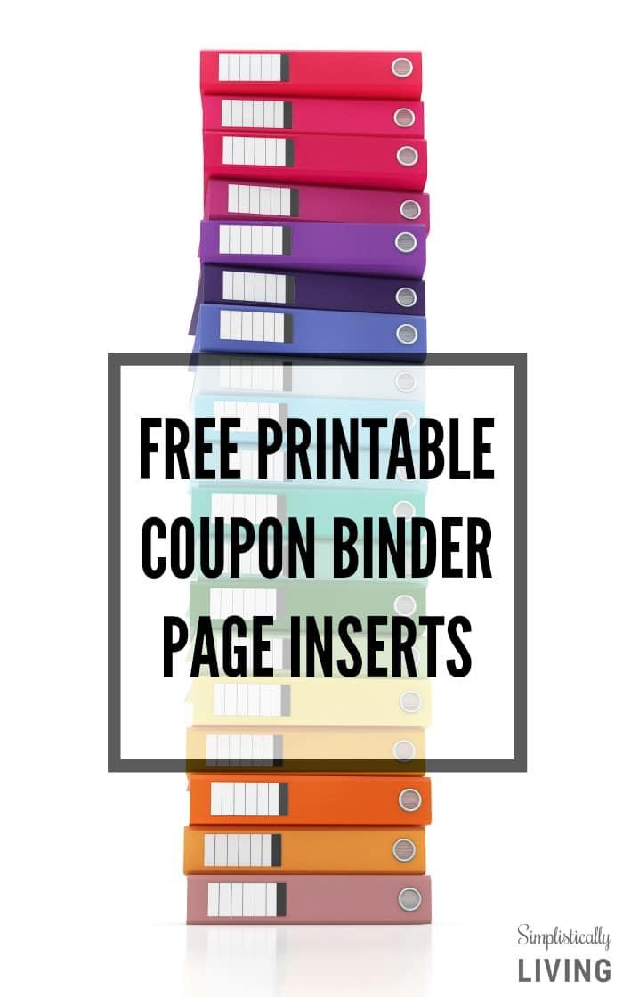 FREE Printable Coupon Binder Page Inserts!