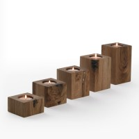 Block Candle Holders | Wooden Candle Holders | Simply ...