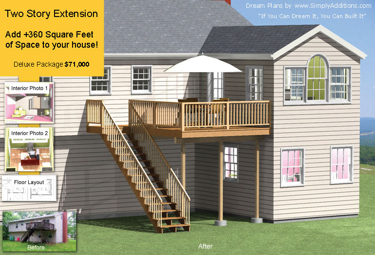 Two Story Home Extension 360 Sq.Ft.