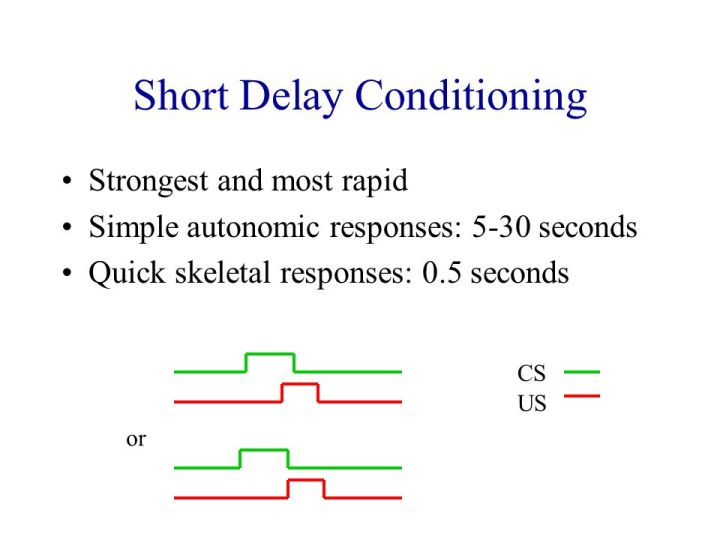 short-delay-conditioning
