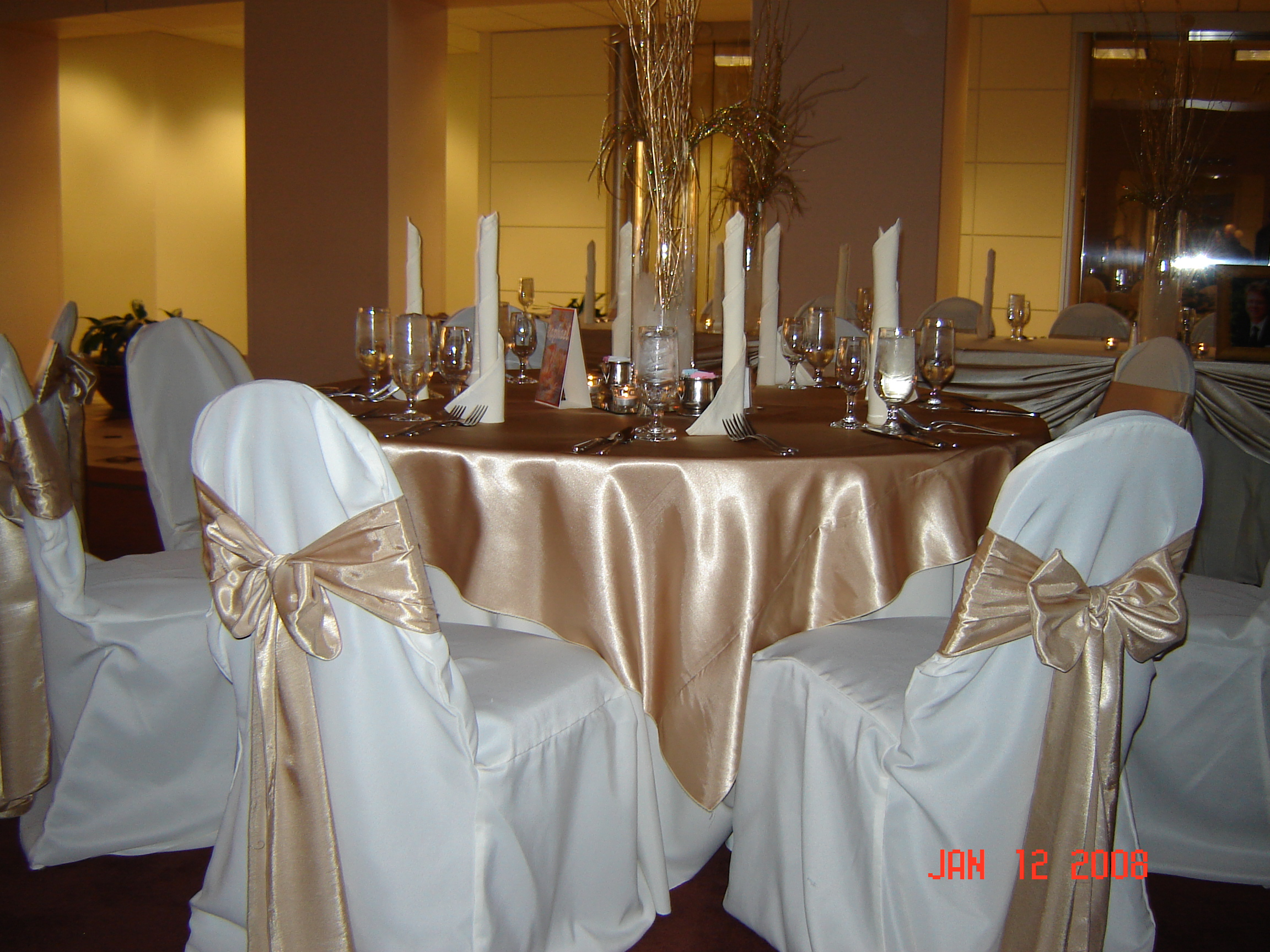 White Chair Covers Simply Elegant Weddings Chair Cover Rentals, wedding rentals, weddings, wedding supplies ...