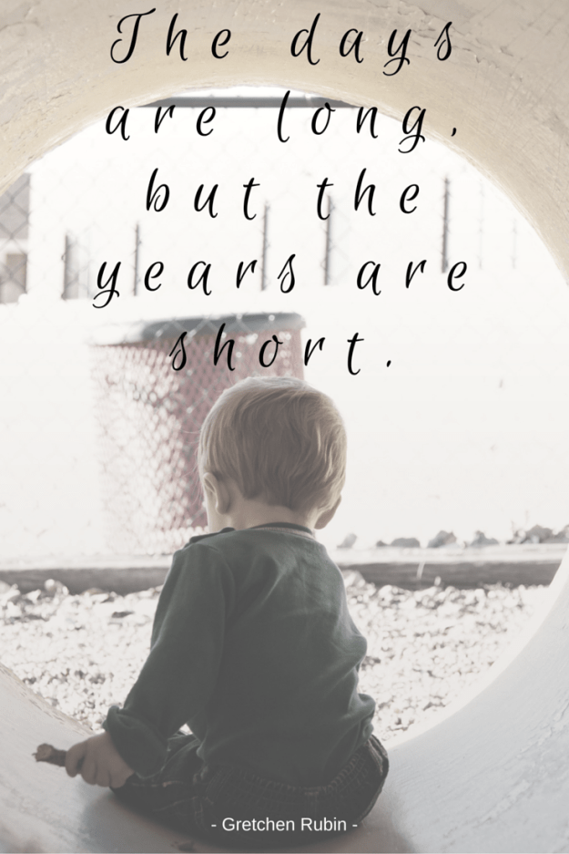 The daysare long,but the years are short.