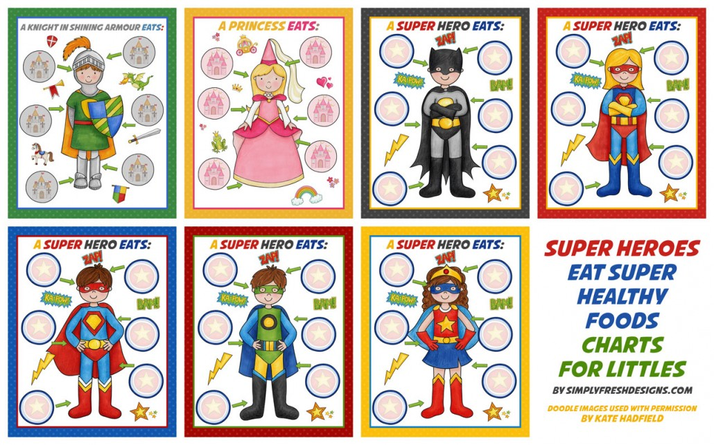 Healthy Eating Charts for Kids - Simply Fresh Designs - food charts