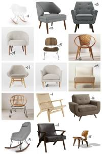 30 Mid-century Modern Chairs under $500 for your home.
