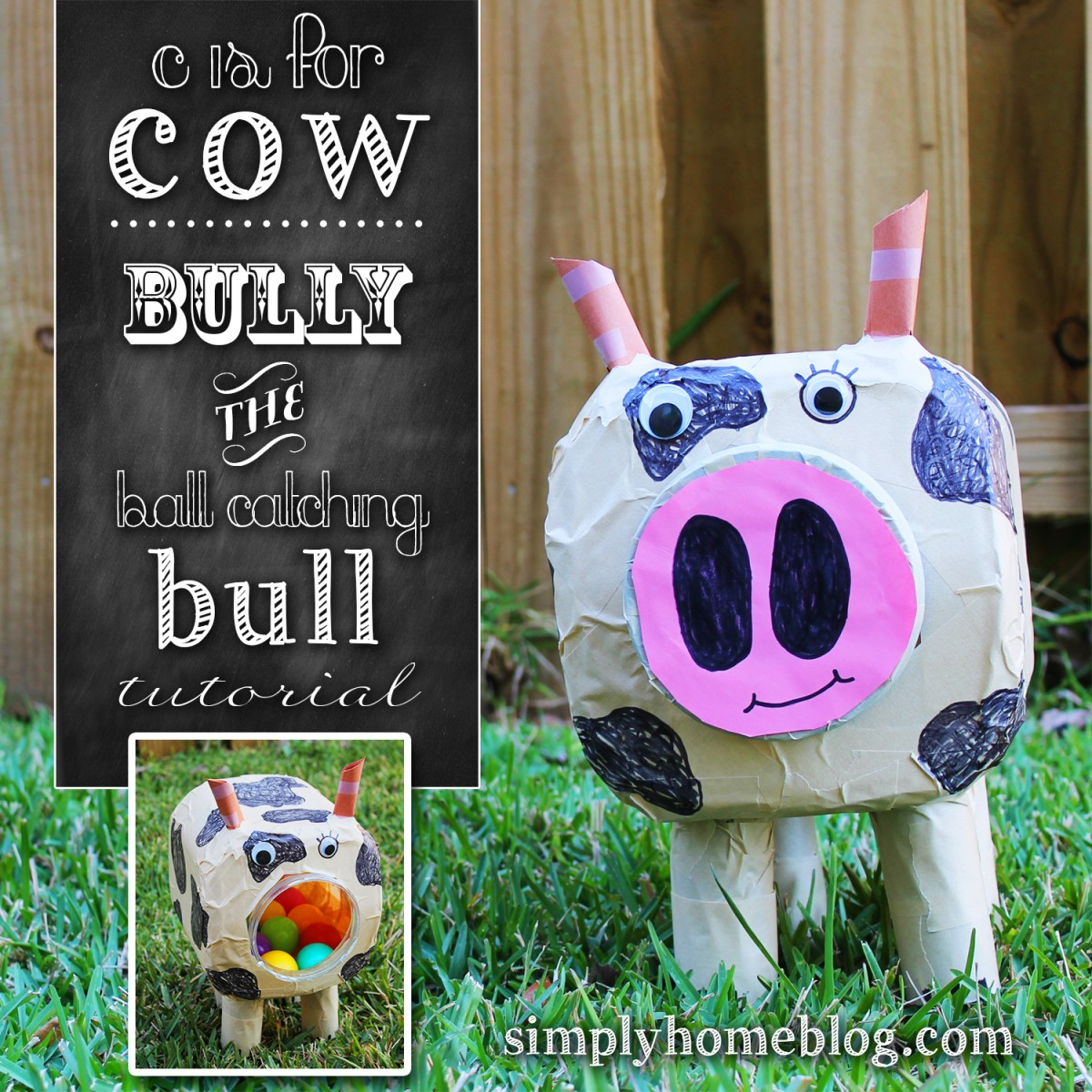 Bully the Ball Catching Bull Cow: A Free Upcycled Project