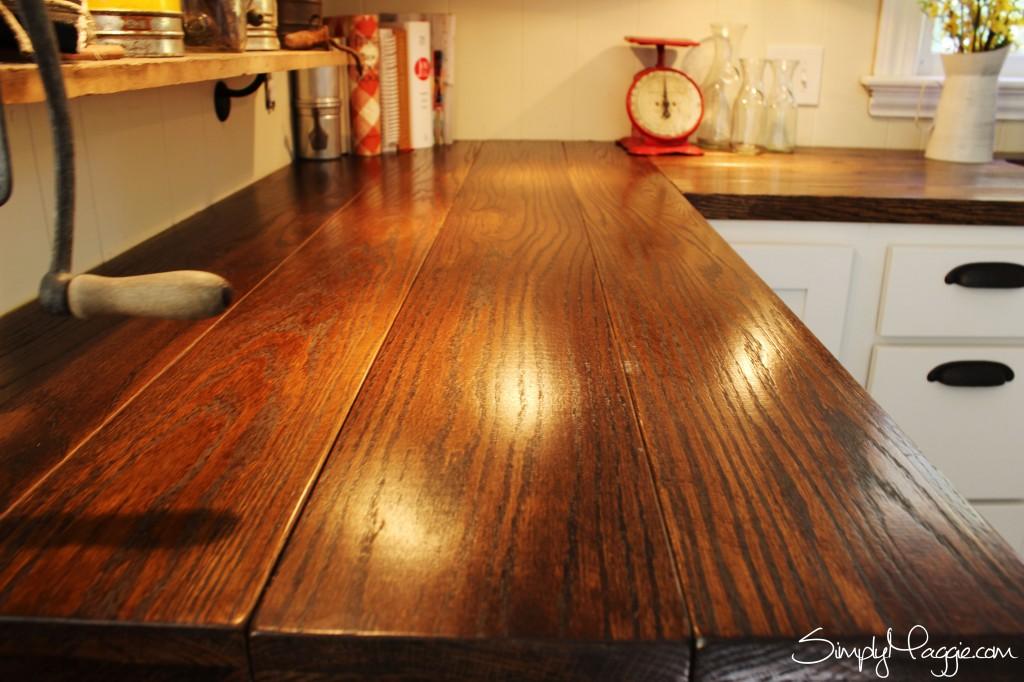 Diy Wide Plank Butcher Block Counter Tops   Simplymaggie.Com