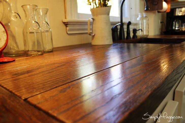 diy wooden kitchen countertops wood kitchen countertops Diy Wide Plank Butcher Block Counter Tops Simplymaggie