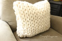 Big Stitch Knit Pillow Pattern | SimplyMaggie.com
