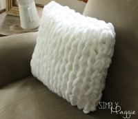 One Hour Arm Knit Pillow Pattern - Simply Maggie ...