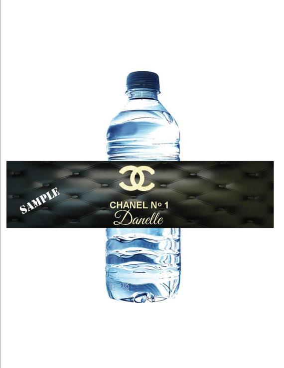 Chanel Party Favor Water Bottle Labels