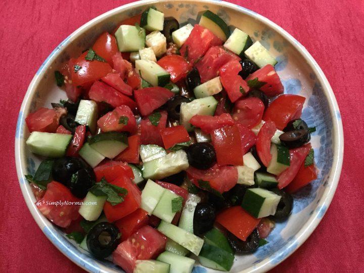 Tomato and Cucumber Salad, Paleo