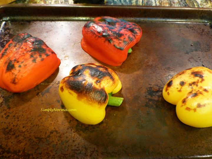 Broil the peppers