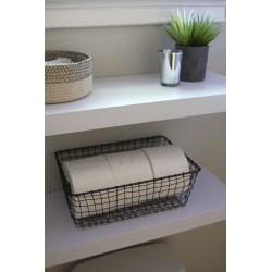 Small Crop Of Hanging Shelves In Bathroom