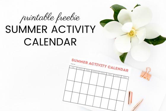 Summer Activity Calendar Printable - simply organized