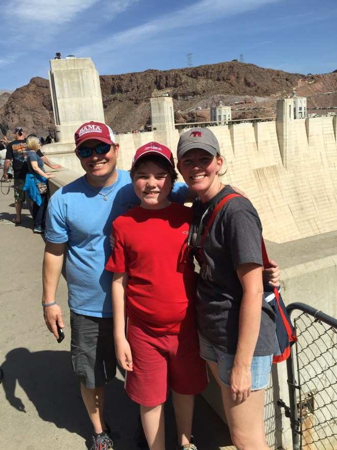 The Patrick's at the Hoover Dam 2015
