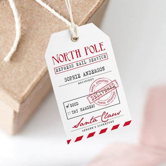 The Best Printable Christmas Gift Tags - Simply Real Moms