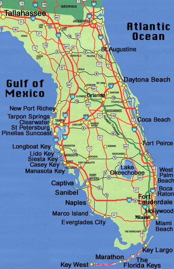 map of cities in florida east coast