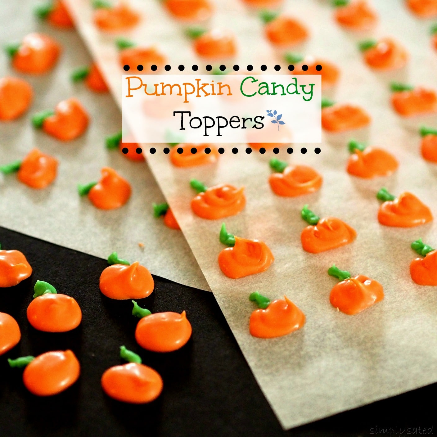 Pumpkin Candy Toppers