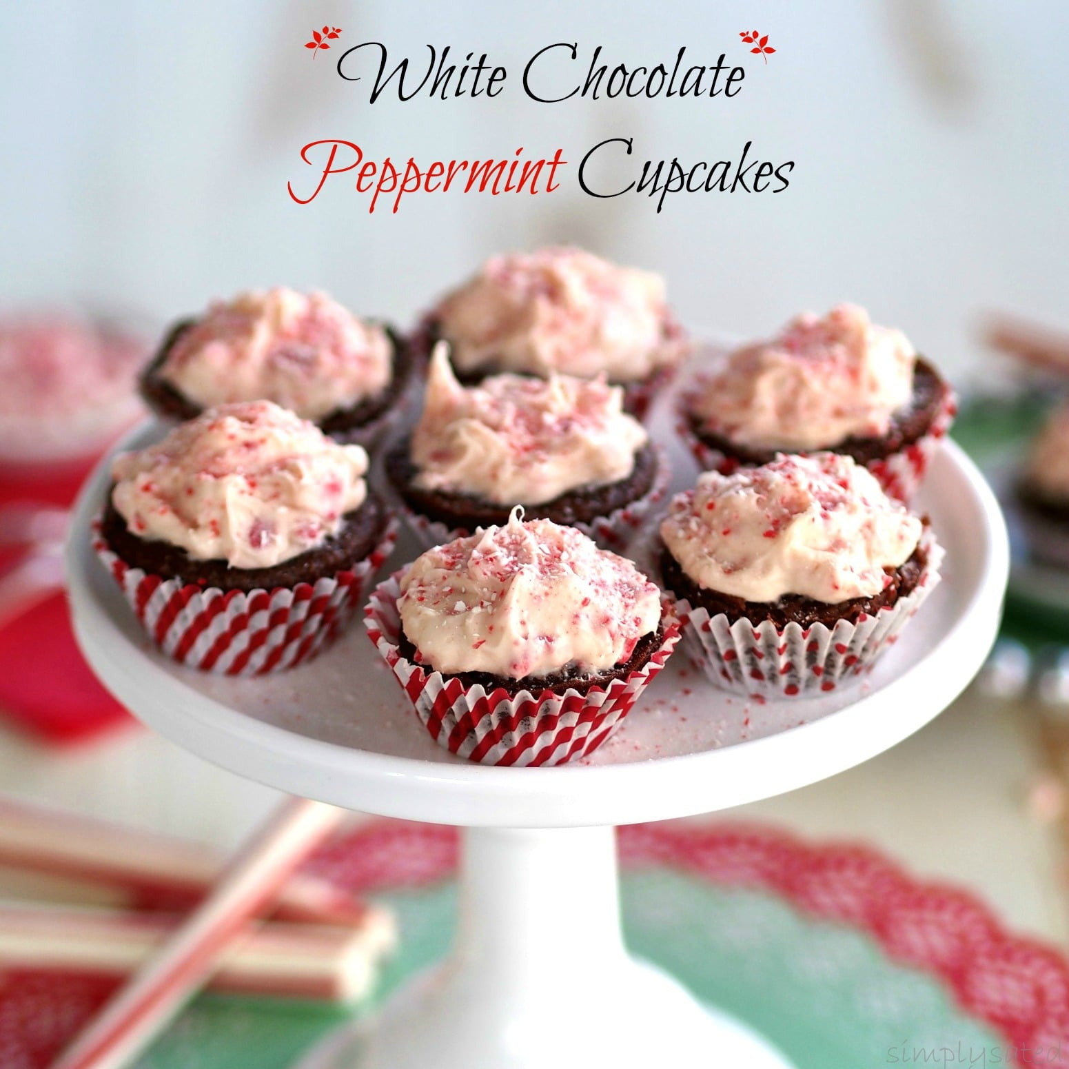 ... chocolate cupcakes with easy white chocolate, peppermint icing