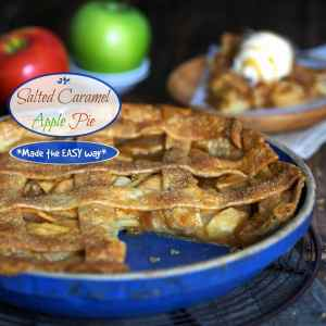 Salted Caramel Apple Tart (made the easy way) with store-bought Salted Caramel Sauce & pie crust. Simply Sated