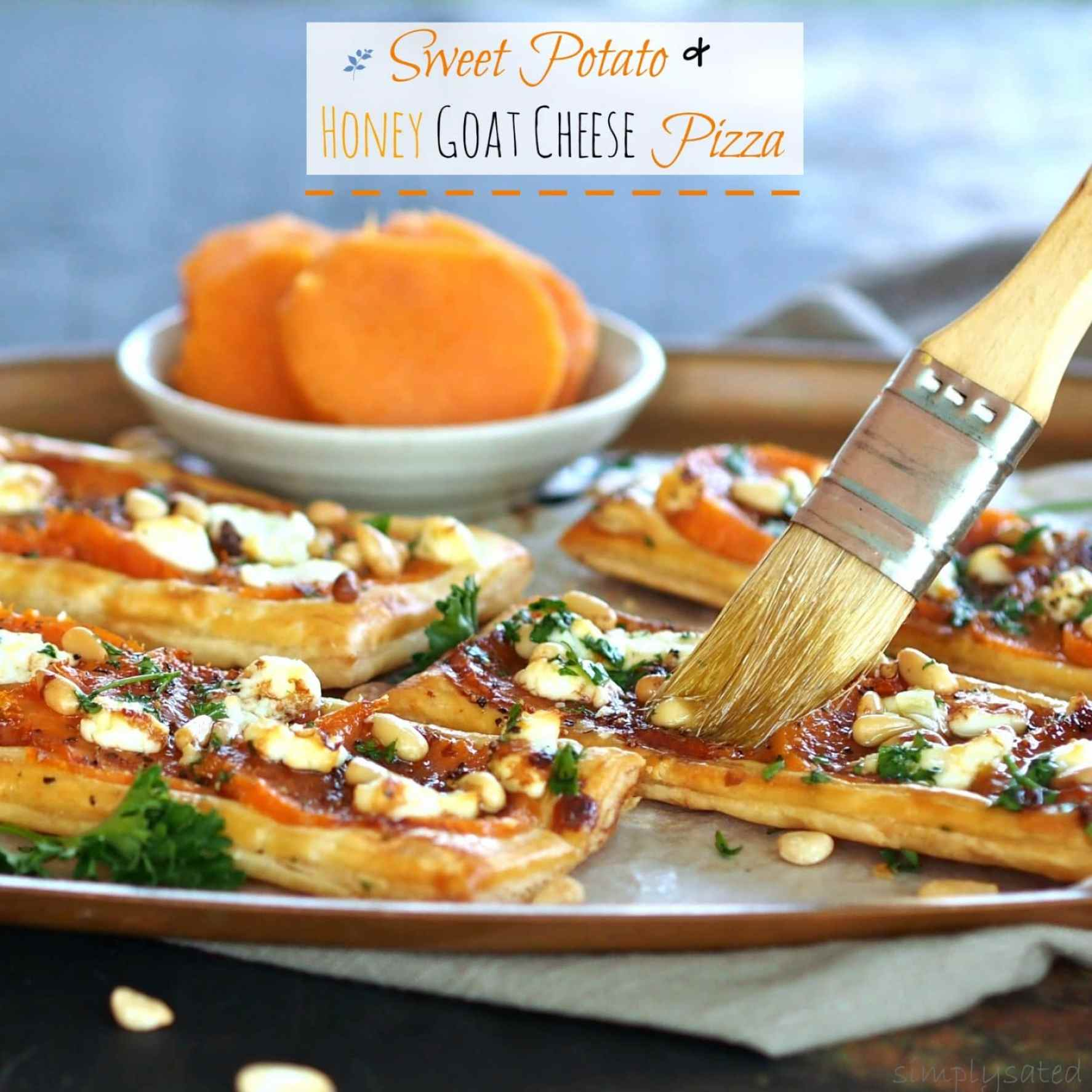 Sweet Potato & Honey Goat Cheese Pizza
