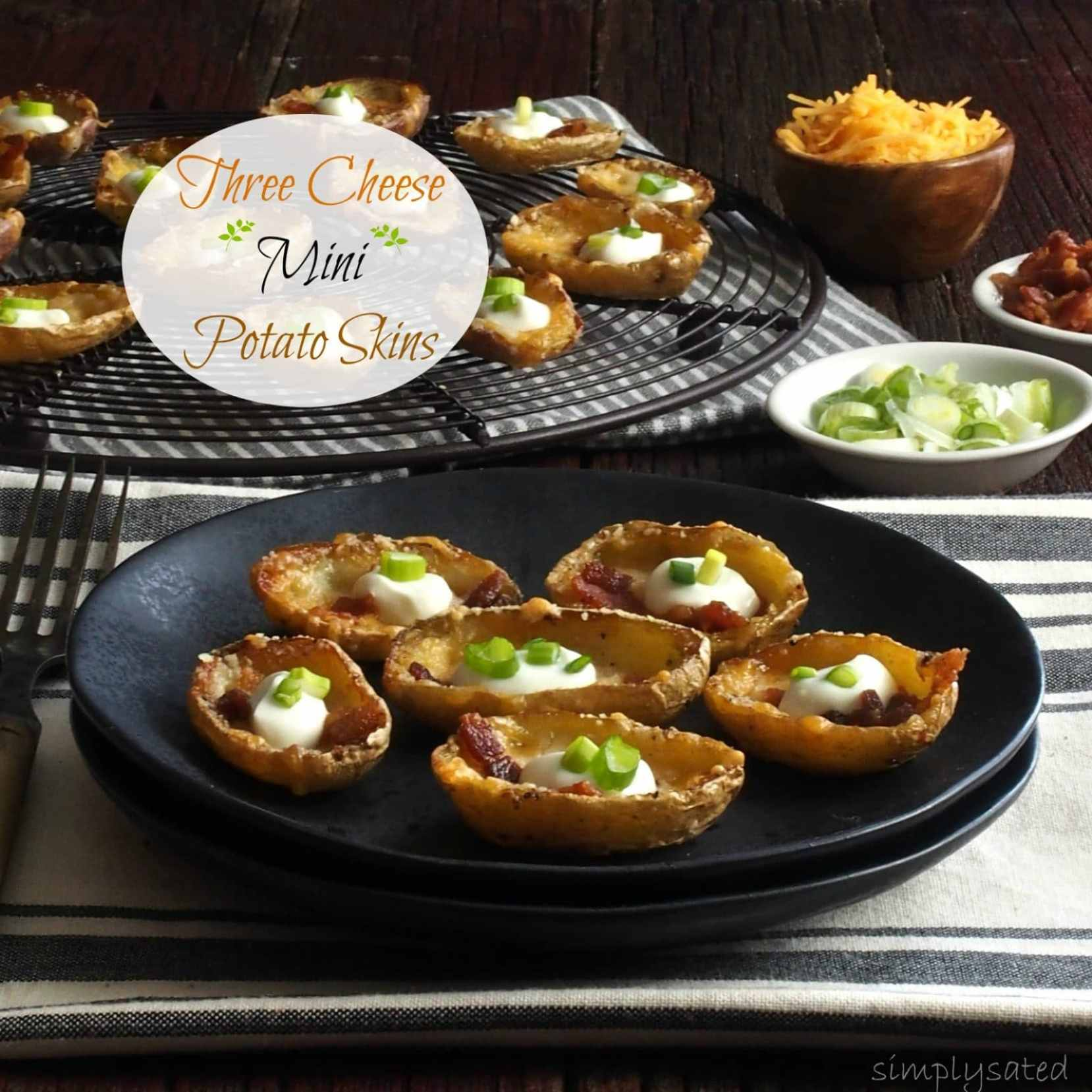 Three-Cheese Mini Potato Skins