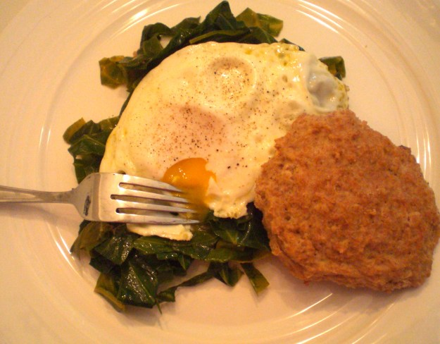 Eggs with Collards | Simply Scrumptious by Sarah