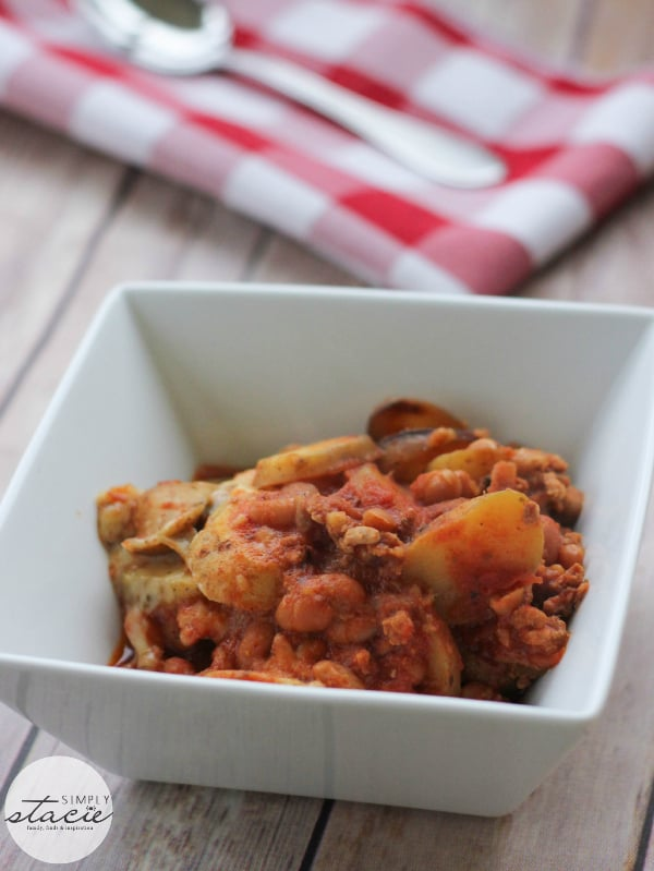 Cowboy Chicken Chili Casserole