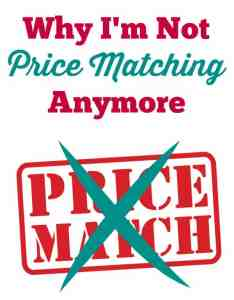 Why I'm Not Price Matching Anymore