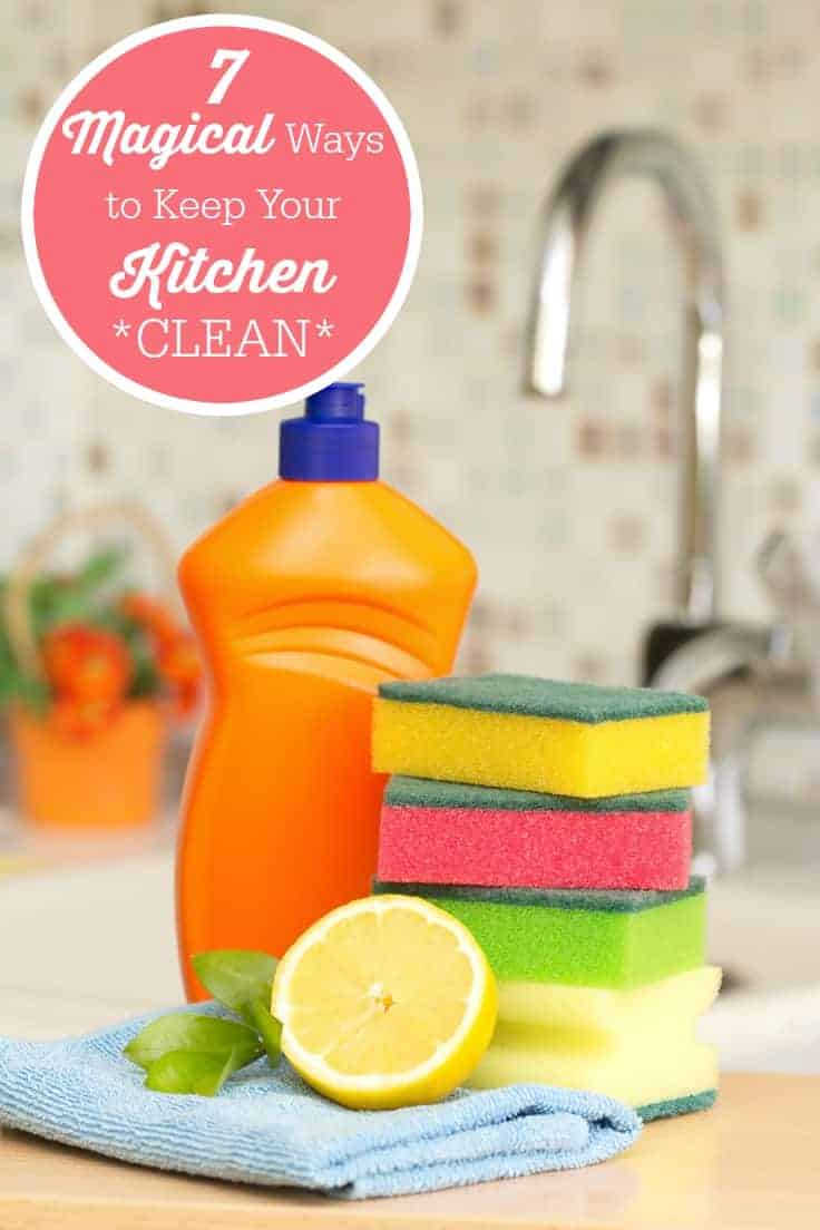 7 magical ways to keep your kitchen clean simply stacie for How to keep the kitchen clean