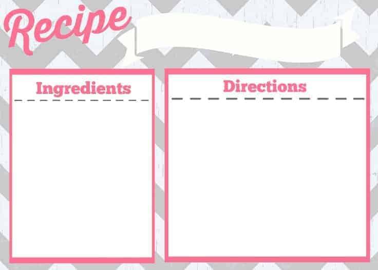 Recipe Card Printable - Simply Stacie - recipe card