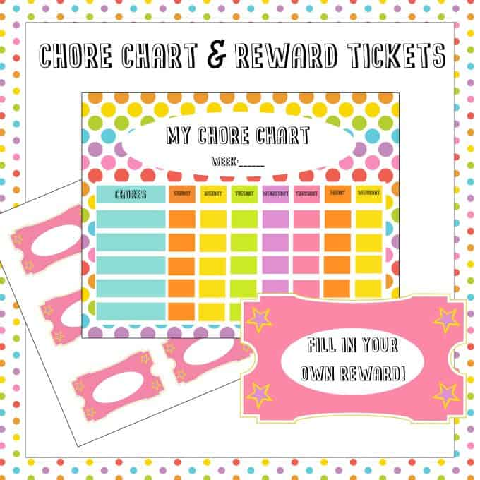 Free Chore Chart  Reward Tickets Printable - Simply Stacie - Free Chart