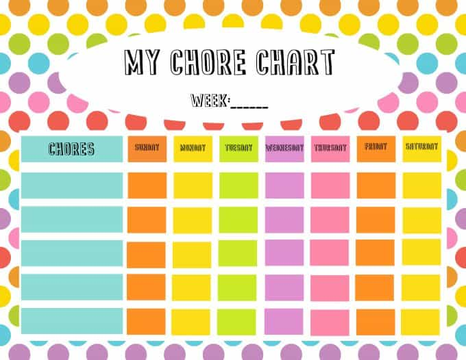 Free Chore Chart  Reward Tickets Printable - Simply Stacie