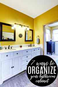 Ways To Organize Your Bathroom Cabinets. organizing ...
