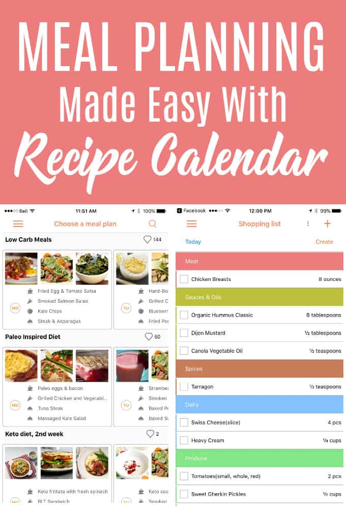 Meal Planning Made Easy with Recipe Calendar - Simply Stacie