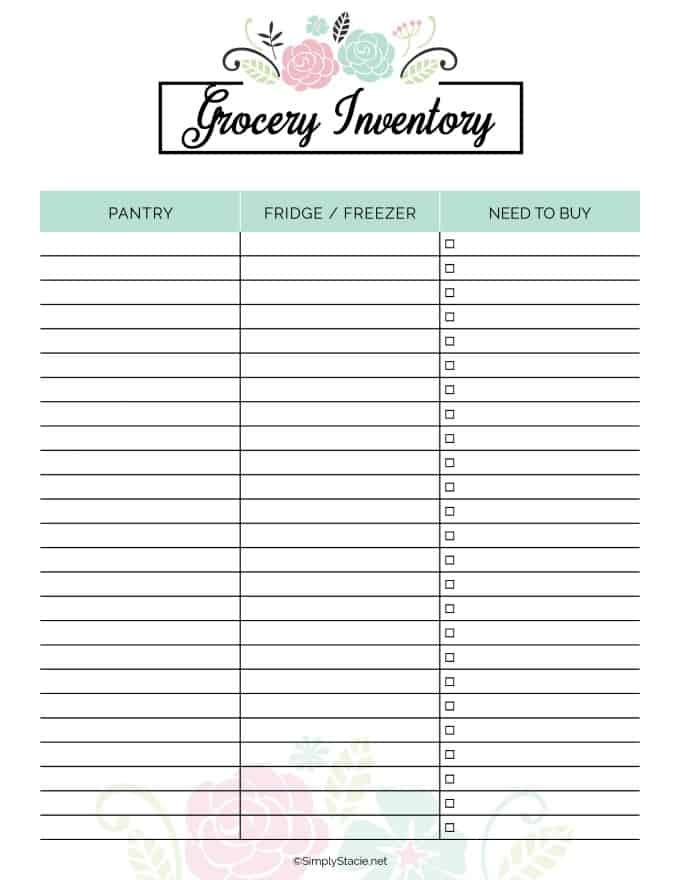 2019 Meal Planner Free Printable - Simply Stacie