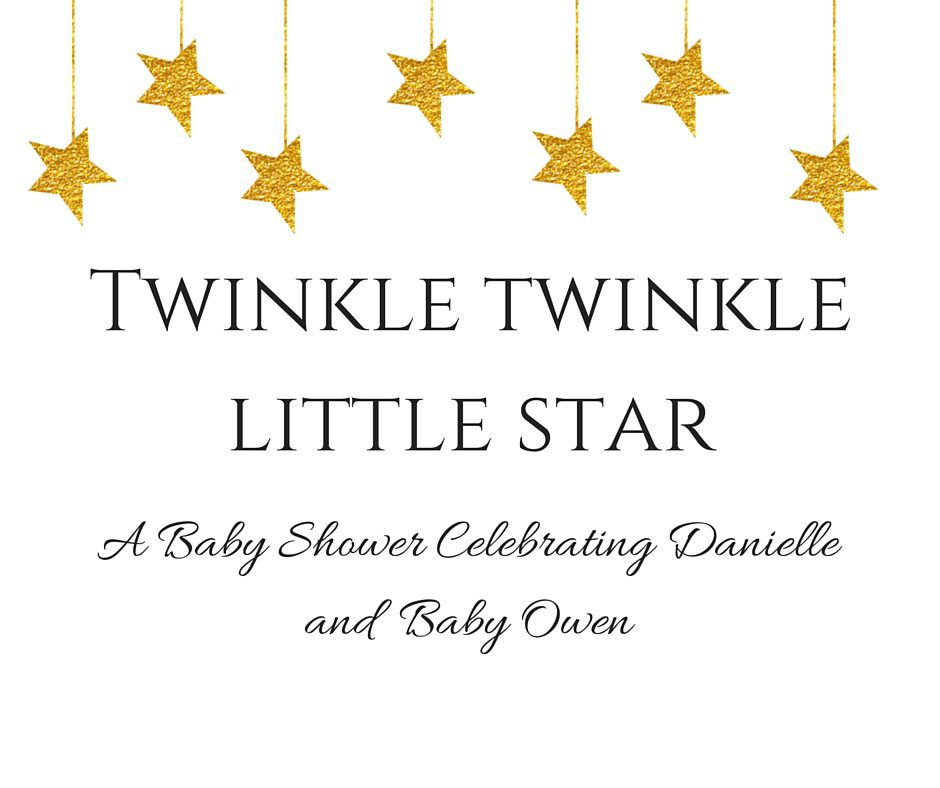 Cute Baby Girl New Wallpaper Twinkle Twinkle Little Star Themed Baby Shower Simply Stine