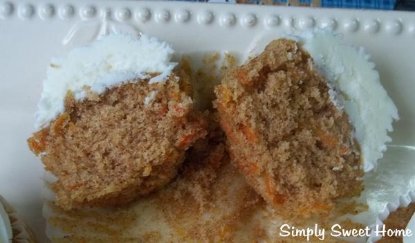 Carrot Cupcake Halves